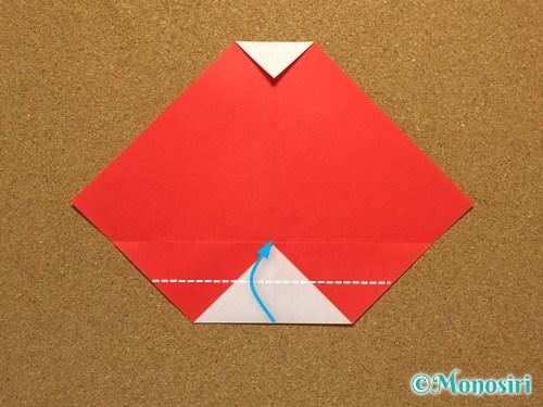 折り紙でサンタ帽子の折り方8