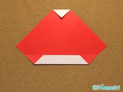 折り紙でサンタ帽子の折り方9