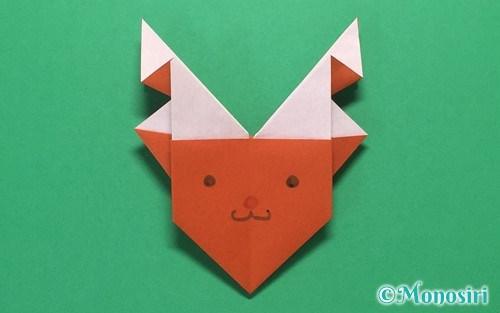 折り紙で折ったトナカイの顔