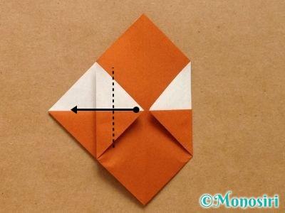 折り紙でトナカイの顔の折り方10