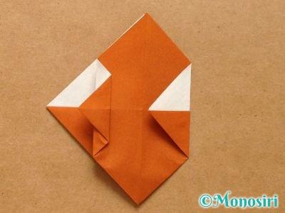 折り紙でトナカイの顔の折り方11