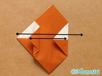 折り紙でトナカイの顔の折り方12