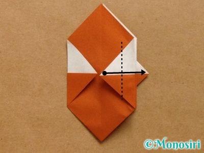 折り紙でトナカイの顔の折り方14