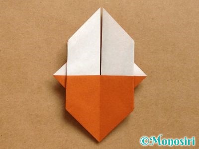 折り紙でトナカイの顔の折り方16