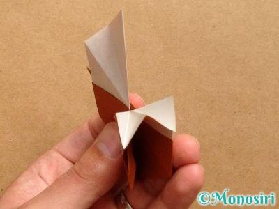 折り紙でトナカイの顔の折り方18