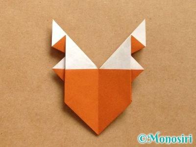 折り紙でトナカイの顔の折り方19