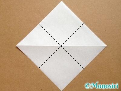 折り紙でトナカイの顔の折り方2