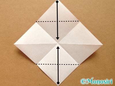折り紙でトナカイの顔の折り方3