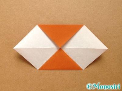 折り紙でトナカイの顔の折り方4
