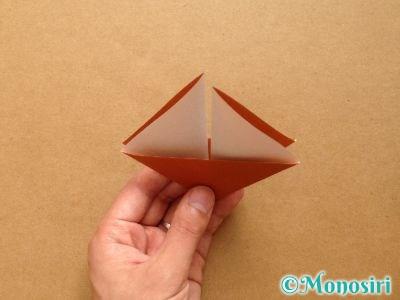 折り紙でトナカイの顔の折り方6
