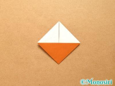 折り紙でトナカイの顔の折り方7