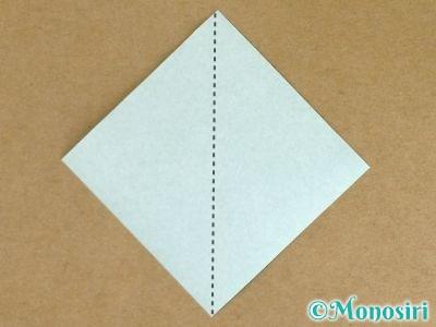 折り紙でポインセチアの折り方1
