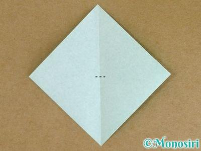 折り紙でポインセチアの折り方2