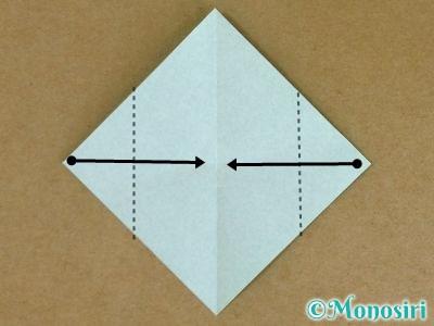 折り紙でポインセチアの折り方3
