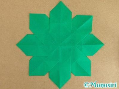 折り紙でポインセチアの折り方8