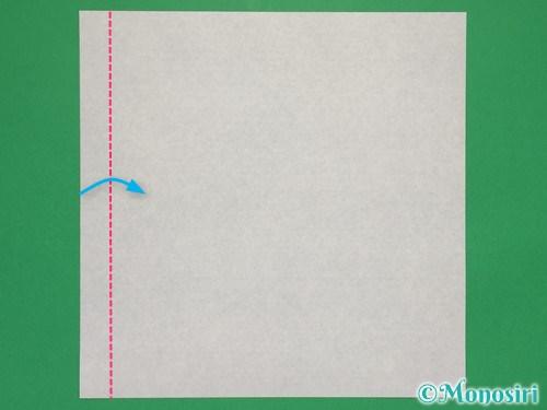 折り紙で簡単な紙飛行機の折り方①1