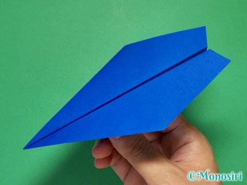 折り紙で簡単な紙飛行機の折り方①10