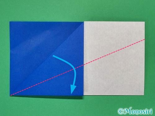 折り紙で簡単な紙飛行機の折り方①7