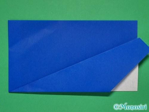 折り紙で簡単な紙飛行機の折り方①8
