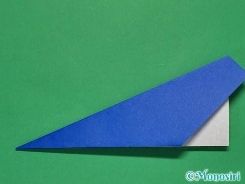 折り紙で簡単な紙飛行機の折り方①9