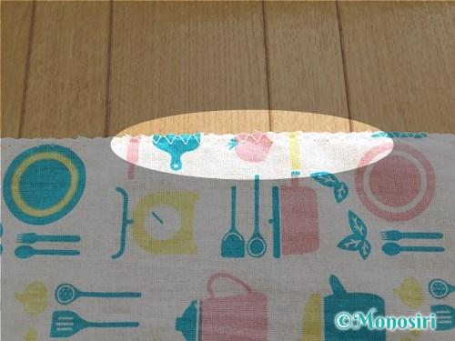 簡単なコップ袋の作り方2