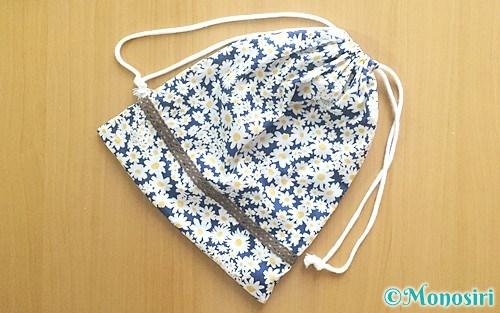 シンプルな手作り巾着袋