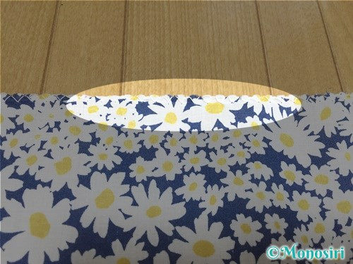 簡単な巾着袋の作り方2