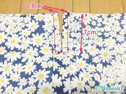 簡単な巾着袋の作り方7