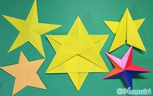 折り紙で作ったたくさんの星