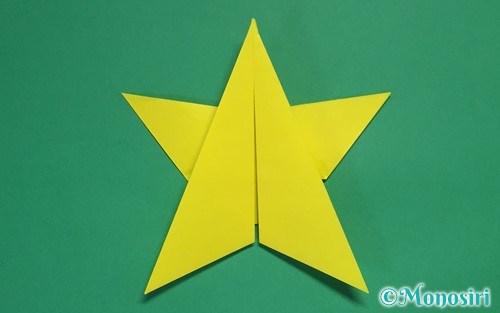 折り紙1枚で折った星