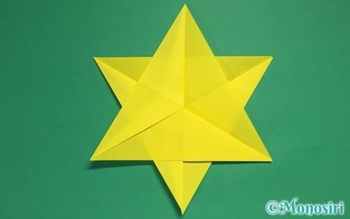 折り紙2枚で作った星