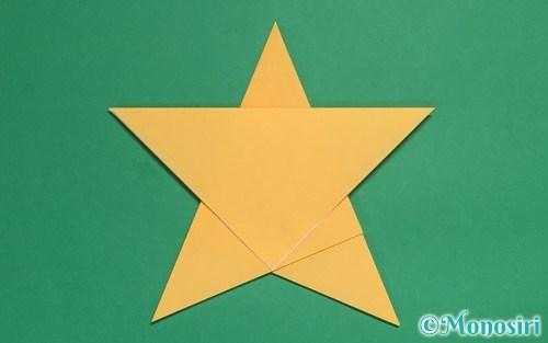 折り紙3枚で作った星
