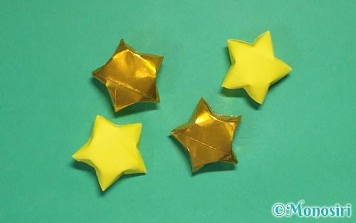折り紙で作ったラッキースター