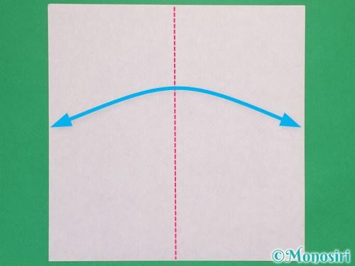 折り紙で可愛いリボンの折り方1