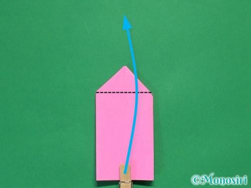 折り紙で可愛いリボンの折り方18
