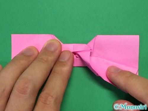 折り紙で可愛いリボンの折り方31