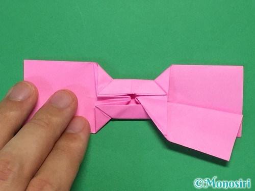 折り紙で可愛いリボンの折り方32