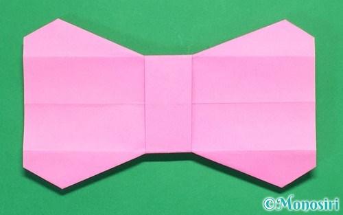 クリスマス 折り紙:リボン 折り紙-mono-siri.com