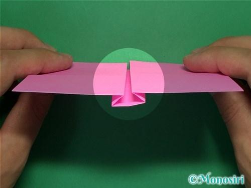 折り紙で簡単リボンの折り方11