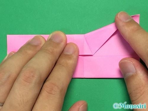 折り紙で簡単リボンの折り方17