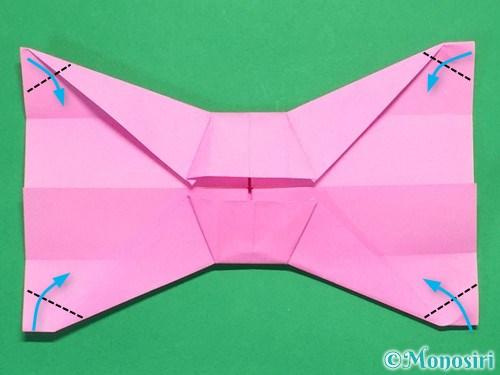 折り紙で簡単リボンの折り方21
