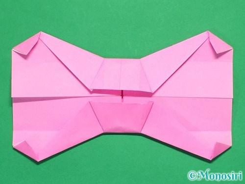 折り紙で簡単リボンの折り方22