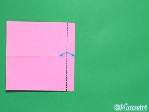 折り紙で簡単リボンの折り方9
