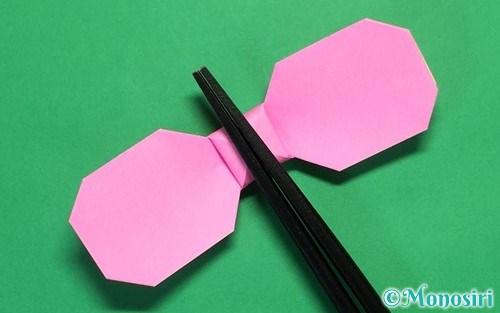 折り紙でリボンの箸置きの折り方0