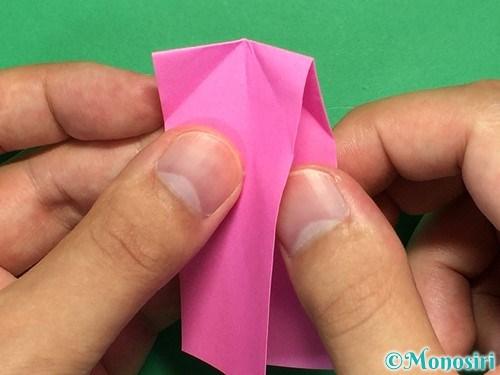 折り紙でリボンの箸置きの折り方10