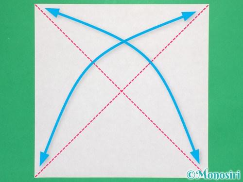 折り紙で立体的なリボンの折り方1