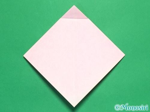 折り紙で立体的なリボンの折り方10