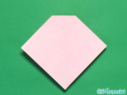 折り紙で立体的なリボンの折り方16