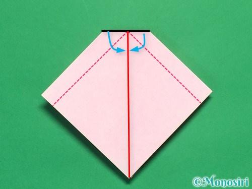 折り紙で立体的なリボンの折り方17