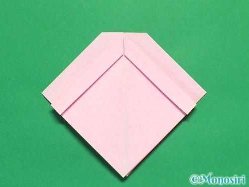 折り紙で立体的なリボンの折り方18